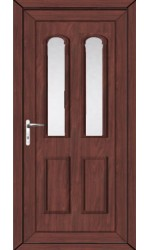 Newport Clear Glazed uPVC Door in Rosewood