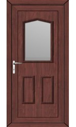 Oakham Clear Glazed uPVC Door in Rosewood