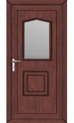 Poole Clear Glazed uPVC Door in Rosewood