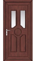 Queensferry Clear Glazed uPVC Door in Rosewood