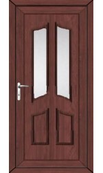Rotherham Clear Glazed uPVC Door in Rosewood