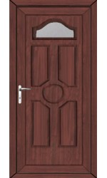 Viewpark Clear Glazed uPVC Door in Rosewood