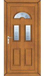 Blackburn Blast uPVC Door in Oak