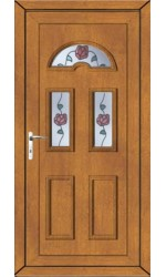 Blackburn Climbing Rose uPVC Door in Oak