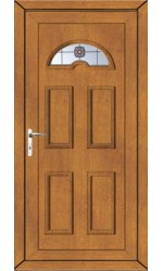 Blackburn Rosette uPVC Door in Oak