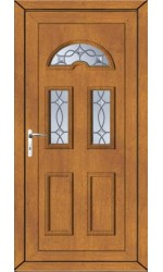 Blackburn Titan Bevel uPVC Door in Oak