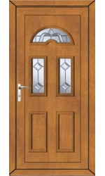 Blackburn Victorian Bevel uPVC Door in Oak