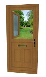 uPVC Stable Door in Oak