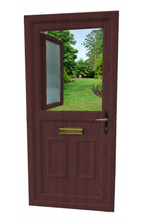 uPVC Stable Door in Rosewood