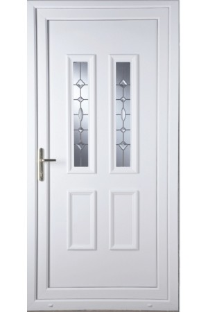 Ilkeston Clear Crystal uPVC Door