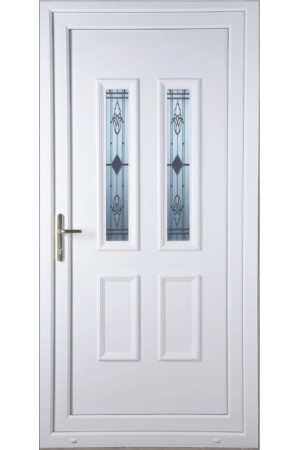 Ilkeston Sandblast Bevel uPVC Door
