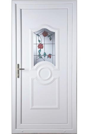 Jacobstow Trailing Rose uPVC Door