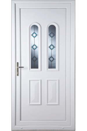 Newport Blue Border Bevel uPVC Door