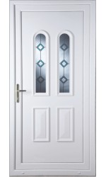 Newport Blue Border uPVC Door