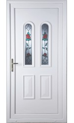 Newport Queen Anne Rose uPVC Door