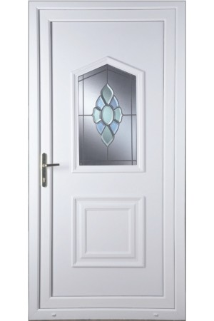 Poole Coloured Bevel uPVC Door