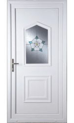 Poole Yorkshire Rose uPVC Door