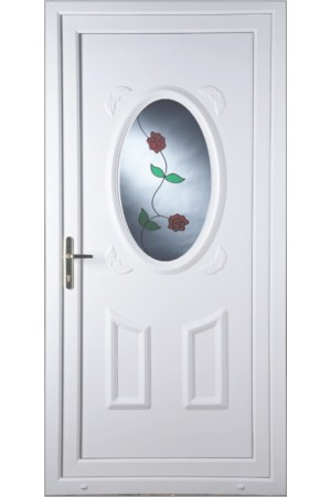 Swansea Rambling Rose uPVC Door