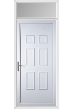 Ashford Solid uPVC Door with Toplight