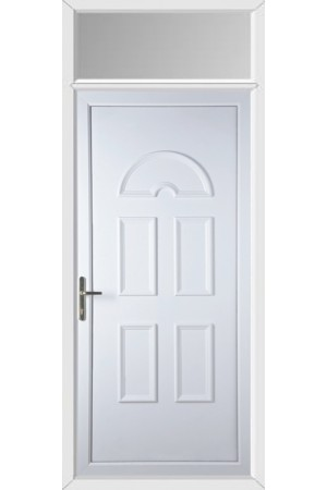 Blackburn Solid uPVC Door with Toplight