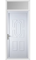 Colchester Solid uPVC Door with Toplight