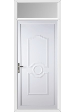 Jacobstow Solid uPVC Door with Toplight