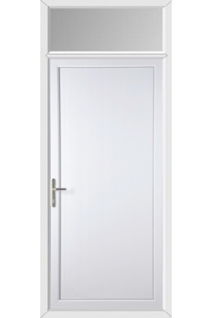 Flat Panel uPVC Door with Toplight