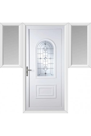 Ellesmere Port Crystal Shimmer uPVC Door with Two Flags