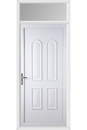 Newport Solid uPVC Door with Toplight