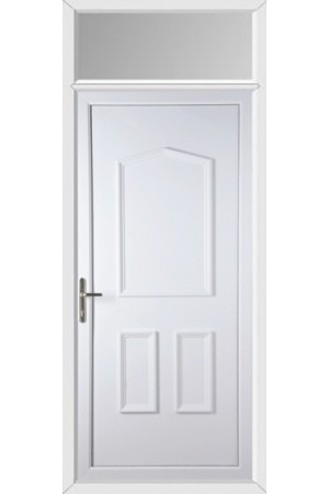 Oakham Solid uPVC Door with Toplight
