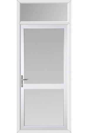 Fully Glazed uPVC Door with Midrail with Toplight