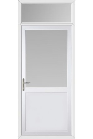 Kings LynnHalf Flat Panel uPVC Door with Toplight