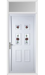 Ashford Creeping Rose uPVC Door with Toplight