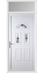 Blackburn Climbing Rose uPVC Door with Toplight