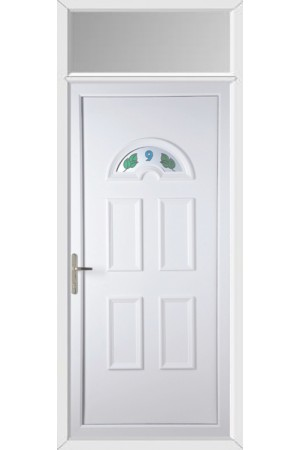 Blackburn House No uPVC Door with Toplight