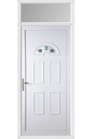 Blackburn Rose Bud House No uPVC Door with Toplight