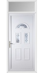 Blackburn Victorian Bevel uPVC Door with Toplight