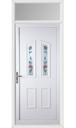 Darlington Climbing Rose uPVC Door with Toplight