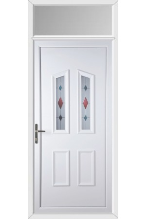Darlington Coloured Blast uPVC Door with Toplight