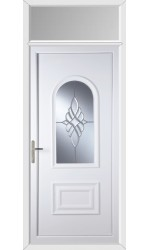 Ellesmere Port Bevel Cluster uPVC Door with Toplight