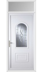 Ellesmere Port Cullingworth Bevel Border uPVC Door with Toplight
