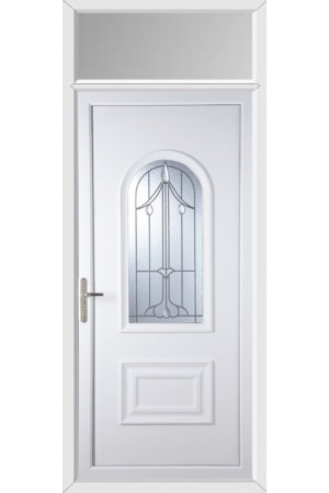 Ellesmere Port Harding Bevel uPVC Door with Toplight