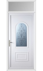 Ellesmere Port Victorian Sandblast uPVC Door with Toplight
