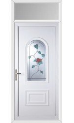 Ellesmere Port Wild Rose uPVC Door with Toplight