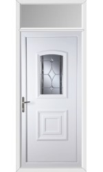 Folkestone Bevel Border uPVC Door with Toplight
