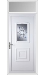 Folkestone Blue Orbit uPVC Door with Toplight