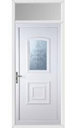Folkestone China Blast uPVC Door with Toplight