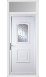 Folkestone Clear Crystal uPVC Door with Toplight