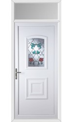 Folkestone Climbing Rose uPVC Door with Toplight