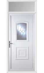 Folkestone Crystal Gem uPVC Door with Toplight